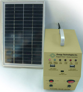 Battery Amp Control Unit With Solar Panel